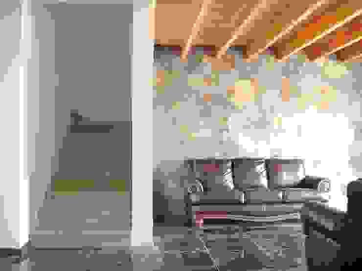 ENCHAPE PIEDRA Livings de estilo clásico de ARKITEKTURA Clásico Piedra