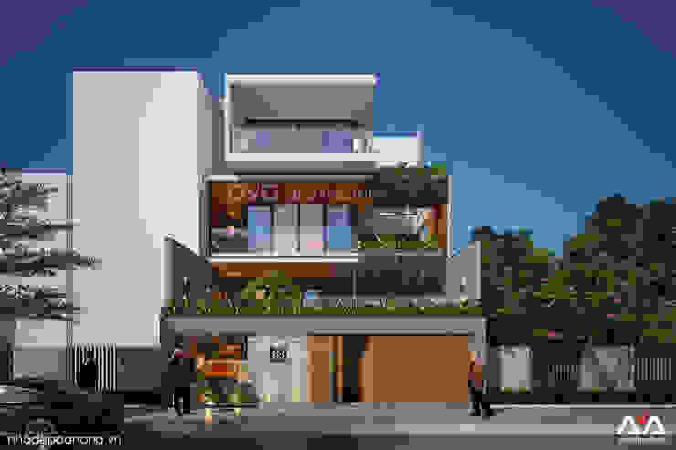 Thiết kế biệt thự sân vườn bởi AVA Architects Hiện đại