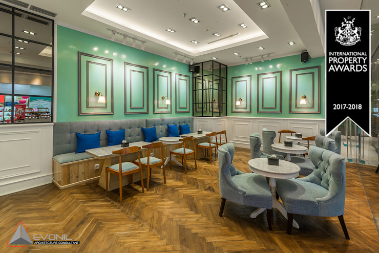 Classic gastronomy by Evonil Architecture Classic Wood Wood effect