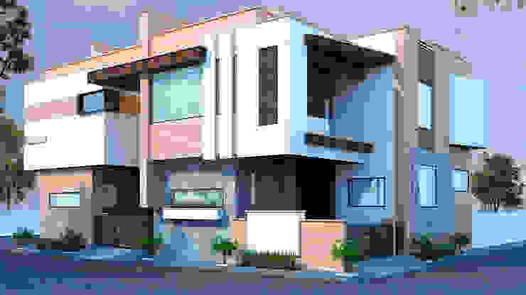 East Facing moodern residence in Jodhpur RAVI - NUPUR ARCHITECTS