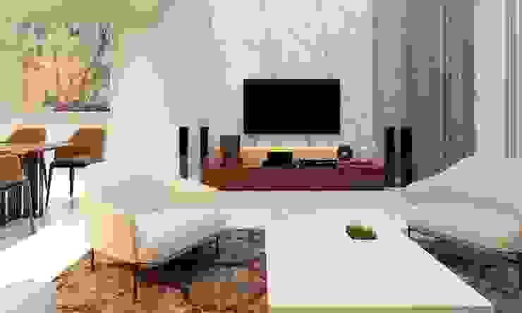 thiết kế nội thất phòng khách hiện đại bởi CÔNG TY THIẾT KẾ NHÀ ĐẸP SANG TRỌNG CEEB Hiện đại
