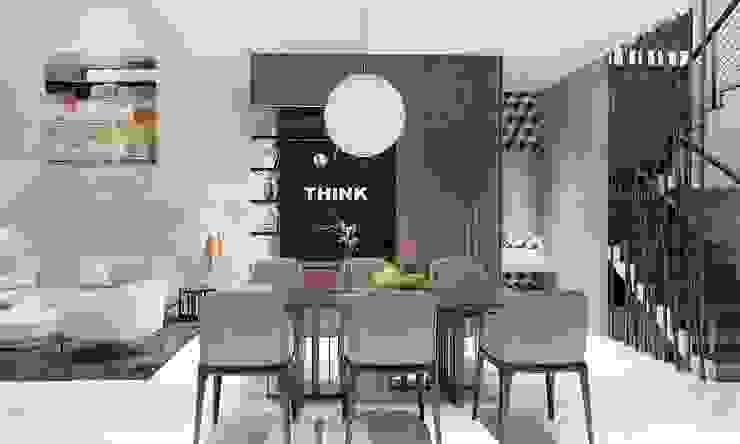 phòng ăn hiện đại Phòng ăn phong cách hiện đại bởi CÔNG TY THIẾT KẾ NHÀ ĐẸP SANG TRỌNG CEEB Hiện đại