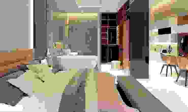 phòng ngủ đẹp Phòng ngủ phong cách hiện đại bởi CÔNG TY THIẾT KẾ NHÀ ĐẸP SANG TRỌNG CEEB Hiện đại