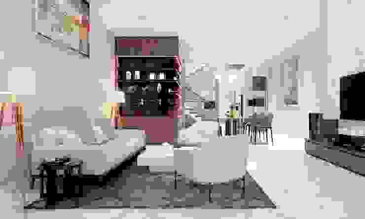 phòng khách hiện đại bởi CÔNG TY THIẾT KẾ NHÀ ĐẸP SANG TRỌNG CEEB Hiện đại