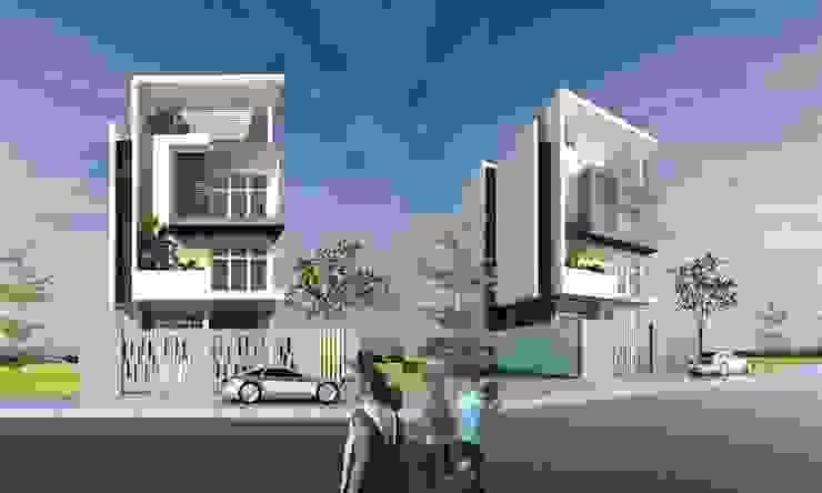 kiến trúc nhà phố hiện đại bởi CÔNG TY THIẾT KẾ NHÀ ĐẸP SANG TRỌNG CEEB Hiện đại