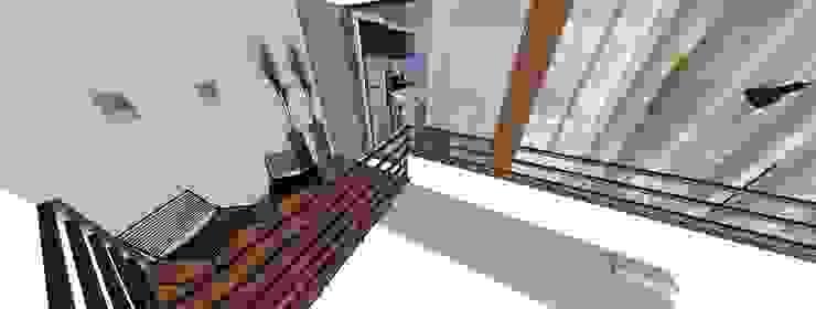 Form Arquitetura e Design Modern balcony, veranda & terrace Wood Beige