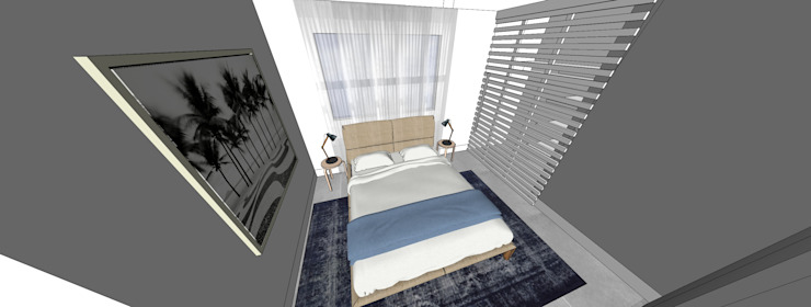 Modern Bedroom by Form Arquitetura e Design Modern Concrete