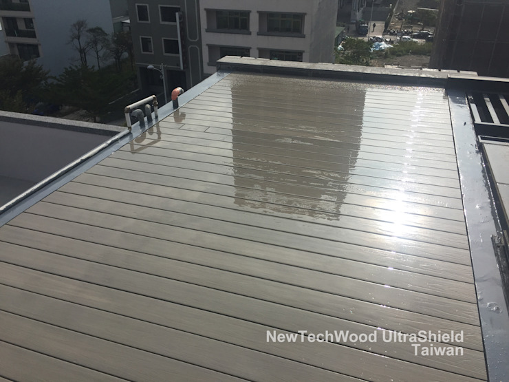 竹北—屋頂地坪工程 根據 新綠境實業有限公司 簡約風 塑木複合材料
