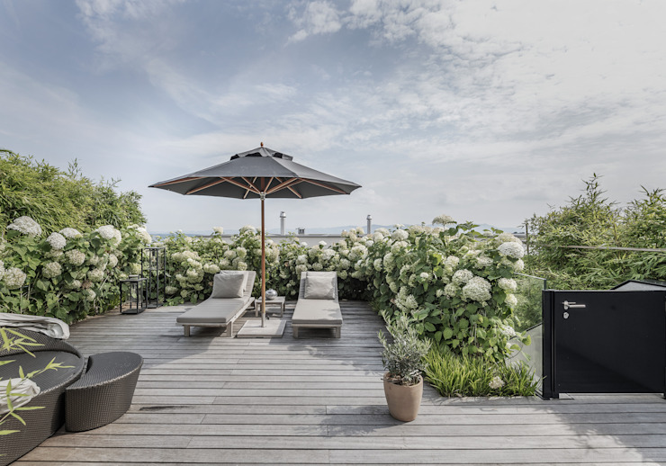 Objekt 268 / meier architekten meier architekten zürich Moderner Balkon, Veranda & Terrasse