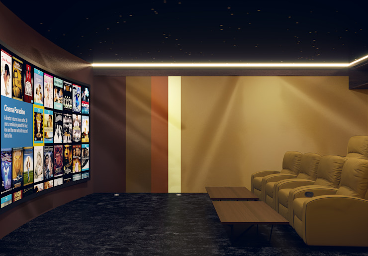 Home Cinema Room in Dubai Custom Controls Modern media room