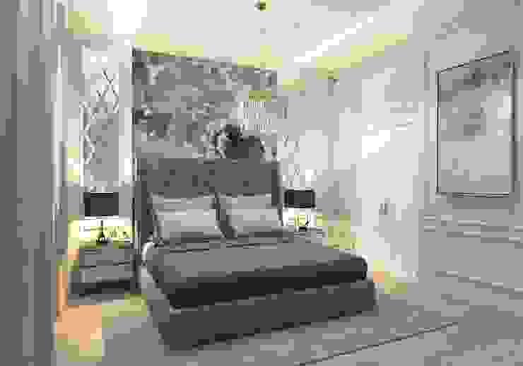 """Дизайн-проект квартиры в ЖК """"Родной город"""" Спальня в классическом стиле от Style Home Классический"""