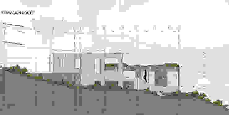 Elevación Norte de LEON CAMPINO ARQUITECTURA SPA Moderno