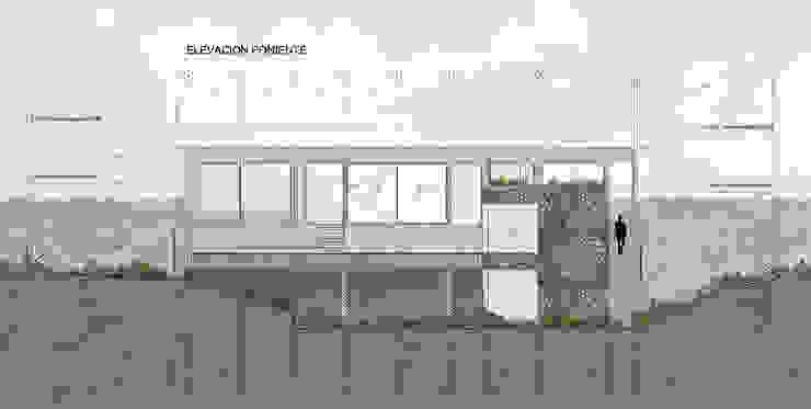 Elevación Poniente de LEON CAMPINO ARQUITECTURA SPA Moderno