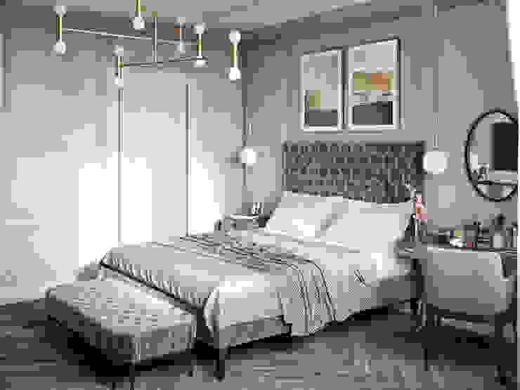 """Дизайн-проект квартиры в ЖК """"Мосфильмовский"""" Спальня в классическом стиле от Style Home Классический"""