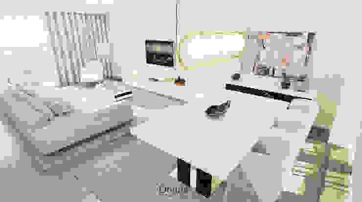 Sala de Jantar Salas de estar modernas por Donna - Exclusividade e Design Moderno