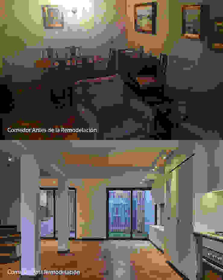 Antes/Después Comedor de LEON CAMPINO ARQUITECTURA SPA Moderno