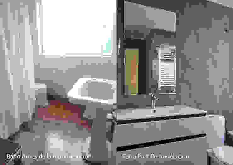 Antes/Después Baño de LEON CAMPINO ARQUITECTURA SPA Moderno