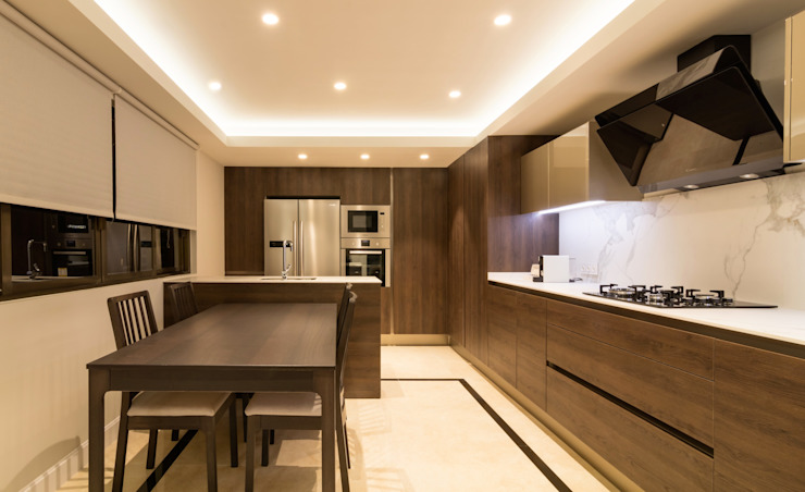 Built-in kitchens by Keinzo Interiores, Eclectic Marble