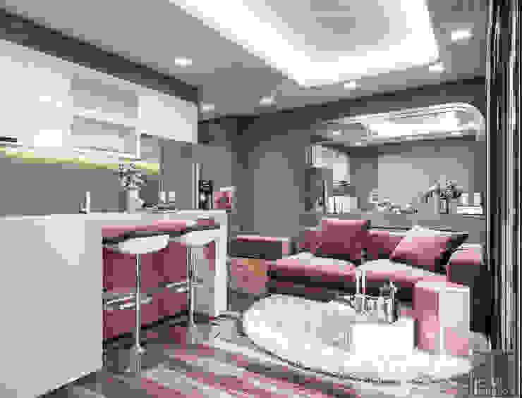 Đẹp Khác Biệt với Thiết kế căn hộ Landmark 81 của ICON INTERIOR Nhà bếp phong cách hiện đại bởi ICON INTERIOR Hiện đại