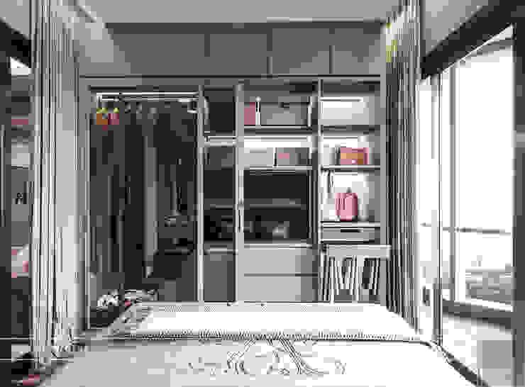 Đẹp Khác Biệt với Thiết kế căn hộ Landmark 81 của ICON INTERIOR Phòng ngủ phong cách hiện đại bởi ICON INTERIOR Hiện đại