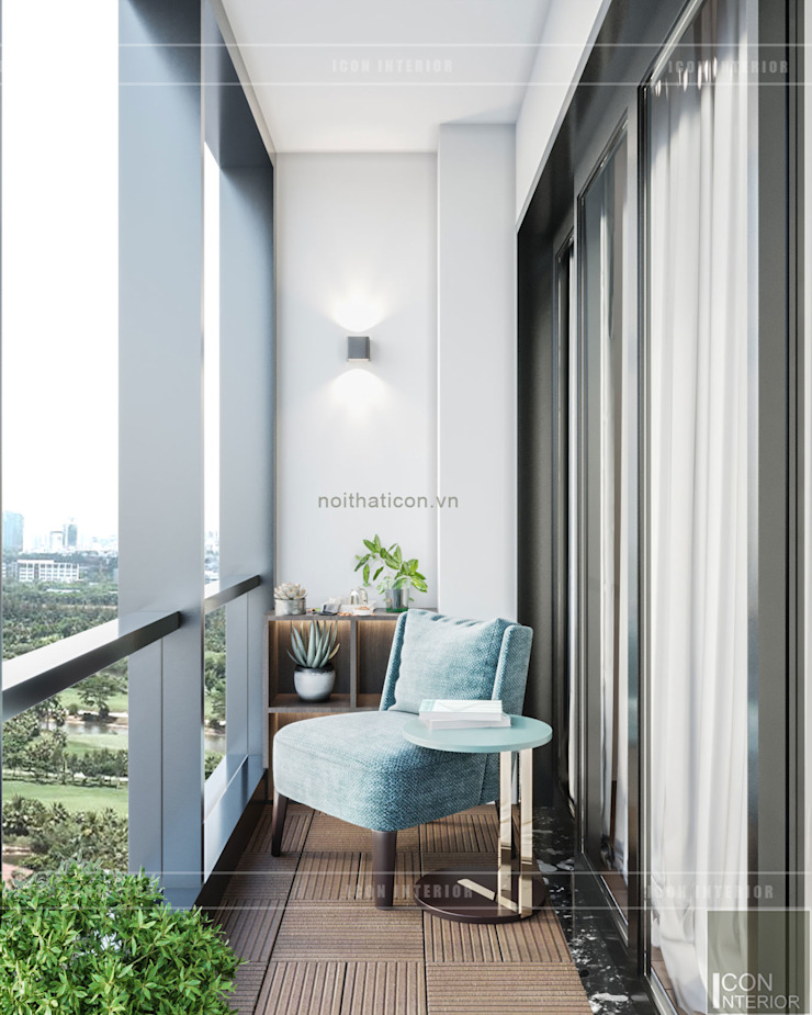 Đẹp Khác Biệt với Thiết kế căn hộ Landmark 81 của ICON INTERIOR Hành lang, sảnh & cầu thang phong cách hiện đại bởi ICON INTERIOR Hiện đại