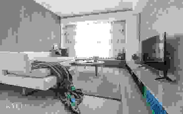 浮光LOFT 芮晟設計事務所 臥室 塑木複合材料 White