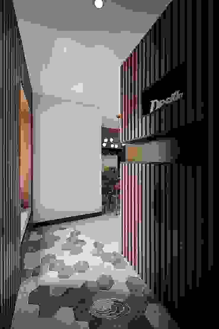 紋理.線條 現代風玄關、走廊與階梯 根據 層層室內裝修設計有限公司 現代風