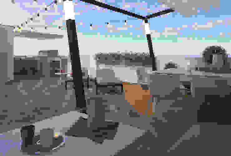Chillout en casa Balcones y terrazas de estilo moderno de Glancing EYE - Asesoramiento y decoración en diseños 3D Moderno