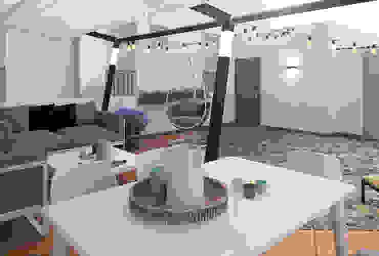 Diseño personalizado Glancing EYE - Asesoramiento y decoración en diseños 3D Balcones y terrazas de estilo moderno