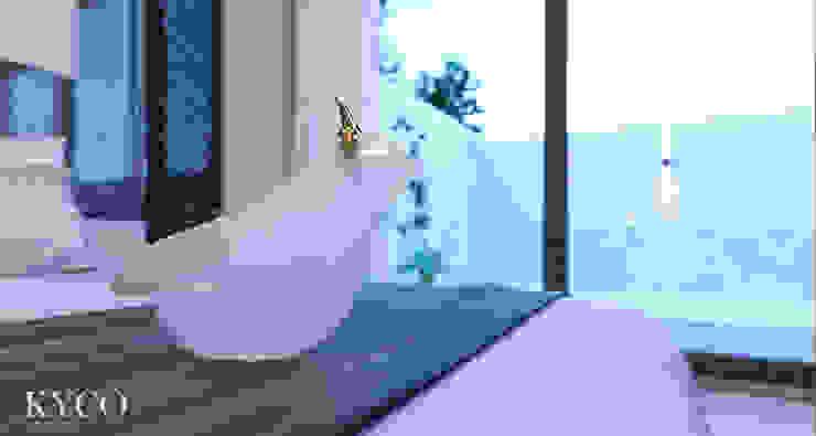 Villa 房飾品 芮晟設計事務所 臥室配件與裝飾品 實木 Blue