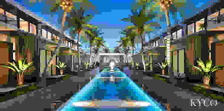 公共泳池 芮晟設計事務所 庭院泳池 實木 Blue