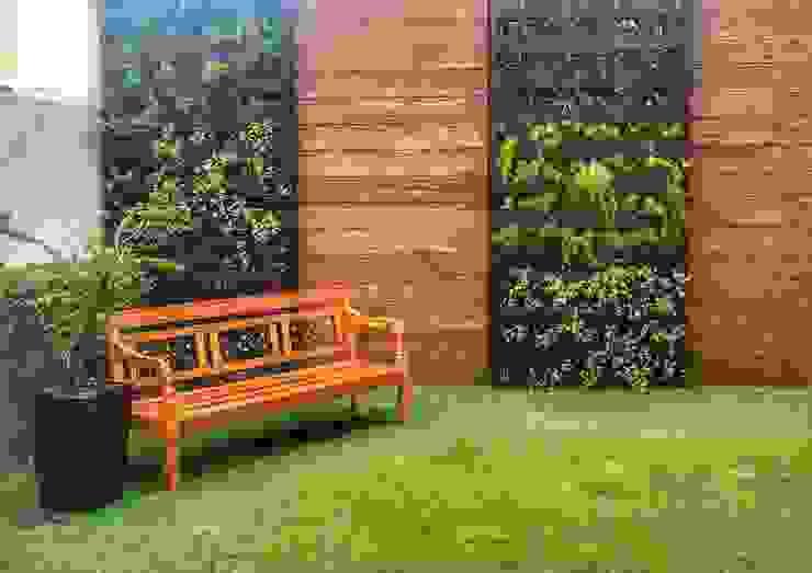 Jardim Minimalista Com Toque Rústico por Barrocarte Rústico