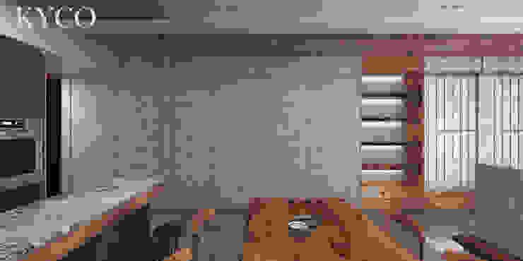 Столовая комната в стиле модерн от 芮晟設計事務所 Модерн