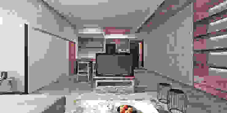 Гостиная в стиле модерн от 芮晟設計事務所 Модерн