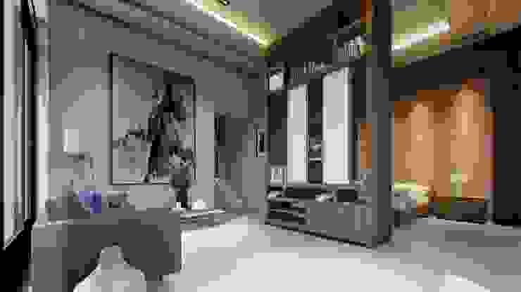 O Tierra Fría Dormitorios modernos Acabado en madera