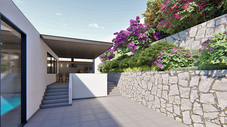 U Balcones y terrazas de estilo moderno de Tierra Fría Moderno