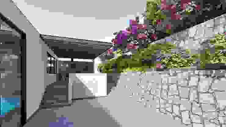 Modern balcony, veranda & terrace by Tierra Fría Modern