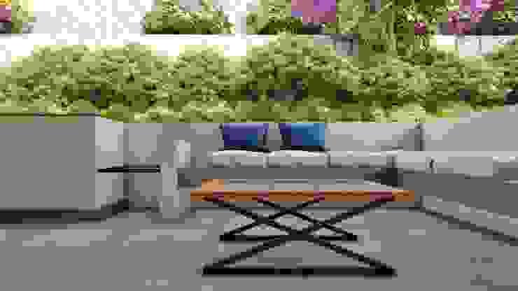 V Balcones y terrazas de estilo moderno de Tierra Fría Moderno
