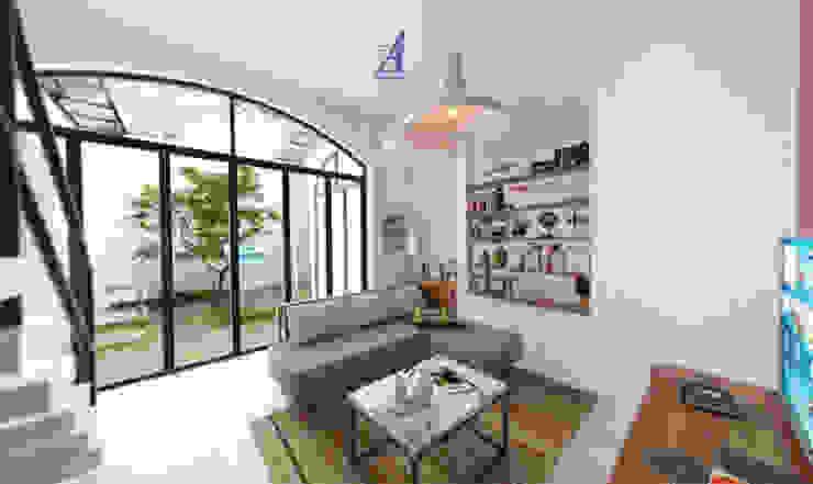 The Kinder House - Pejaten, Jakarta Selatan (Guest Area) Ruang Keluarga Gaya Asia Oleh Asta Karya Studio Asia Marmer