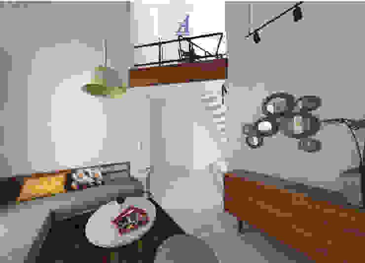 The Kinder House - Pejaten, Jakarta Selatan (Guest Area) Ruang Keluarga Gaya Asia Oleh Asta Karya Studio Asia Kayu Wood effect