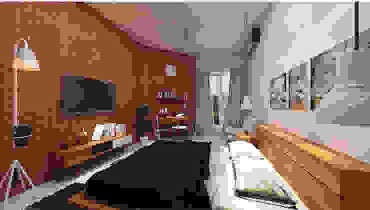 The Kinder House - Pejaten, Jakarta Selatan (Bedroom) Kamar Tidur Gaya Asia Oleh Asta Karya Studio Asia Batu Bata