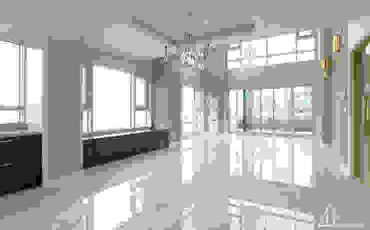 호텔같은 복층 펜트하우스 인테리어 모던스타일 거실 by 디자인 아버 모던
