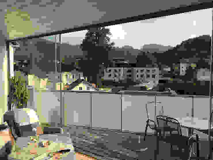 6-flügelige Verglasung zum Schieben Schmidinger Wintergärten, Fenster & Verglasungen Moderner Wintergarten Glas Transparent