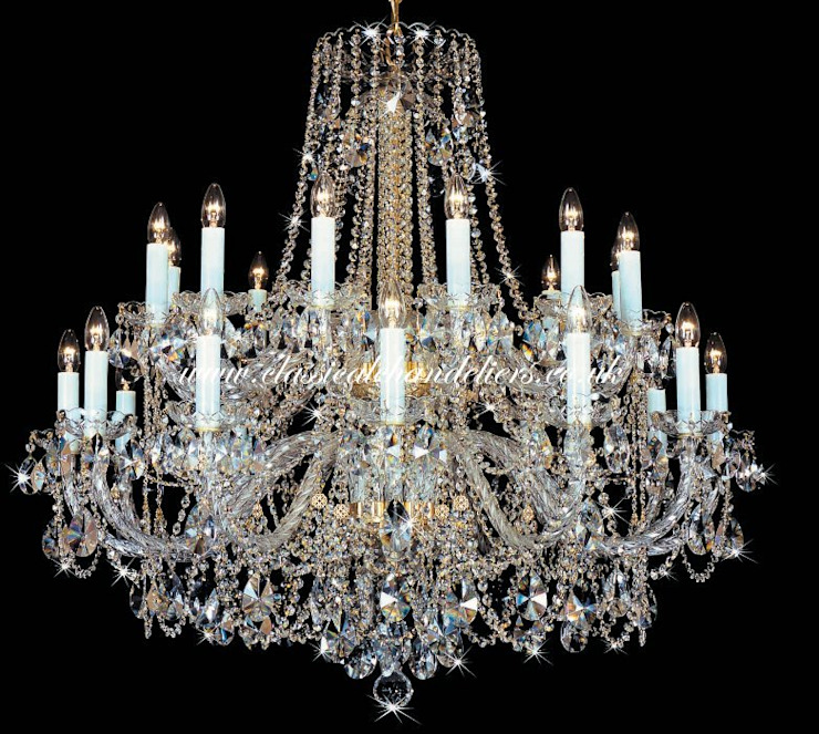 24 Glass Arm BC43074 24HK-669/1SW Chandelier Classical Chandeliers Living roomLighting
