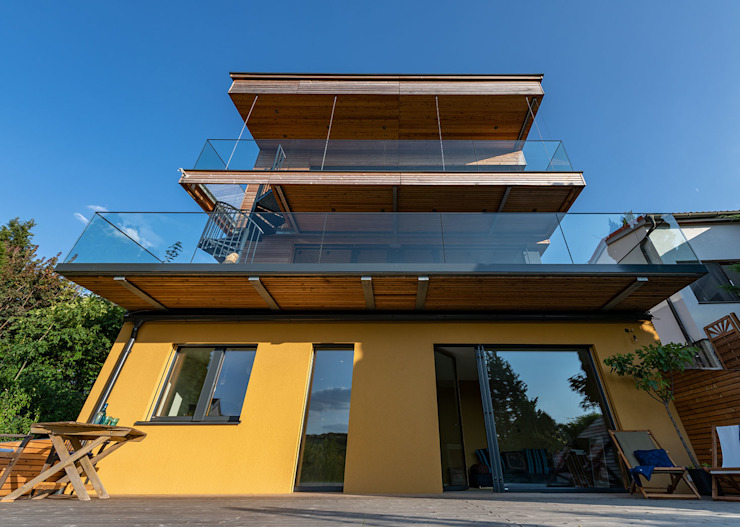 Modern houses by AL ARCHITEKT - in Wien Modern Wood Wood effect