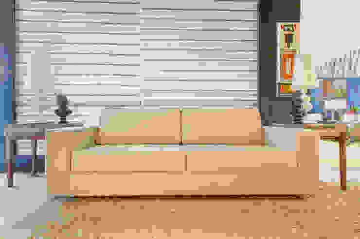 Sabe aquele sofá fixo ATEMPORAL? Achou!!!!! por Sgabello Interiores Moderno Algodão Vermelho