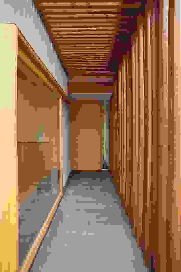 一級建築士事務所A-SA工房 Modern corridor, hallway & stairs Wood Wood effect