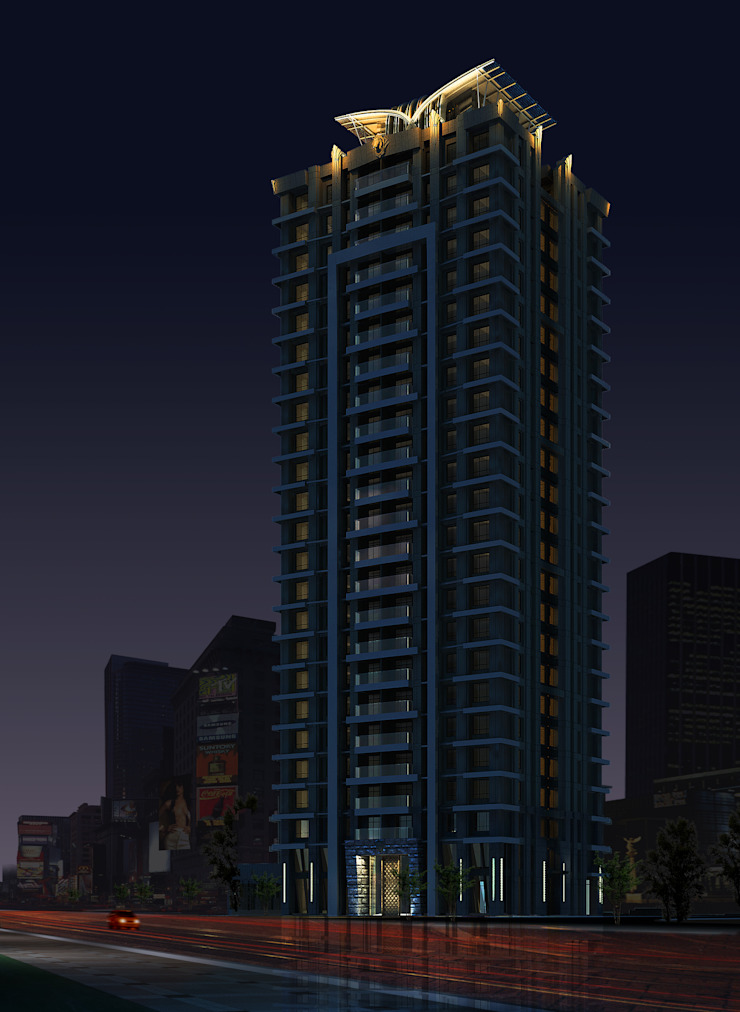 新北市新莊區案例 – 24層建築外觀設計&夜間4時段燈光計畫 根據 雲展建築設計 Winstarts Architectural Design Group