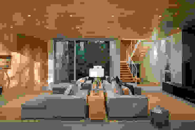 Living room by Hernandez Silva Arquitectos,