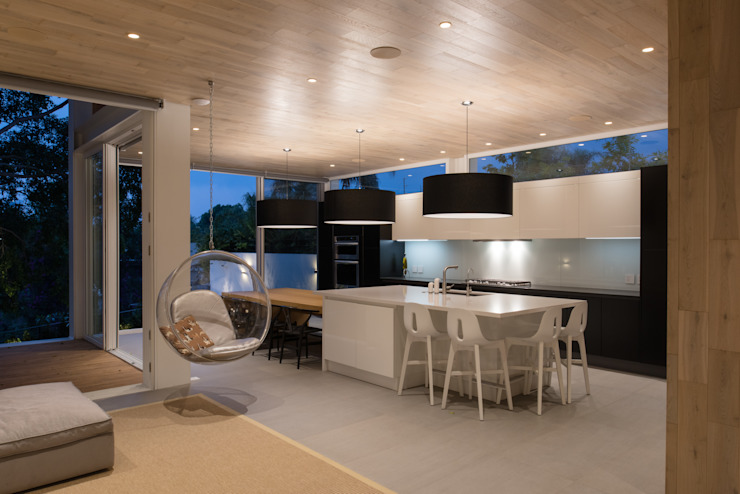 現代廚房設計點子、靈感&圖片 根據 Hernandez Silva Arquitectos 現代風